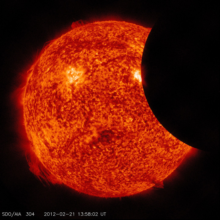 Partial Solar Eclipse from SDO